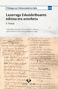 Lazarraga Eskuizkribuaren edizioa eta azterketa II